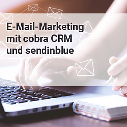 Icon für E-Mail-Marketing mit sendinblue und cobra